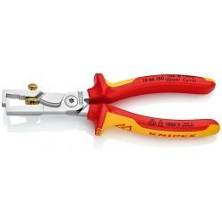 Кліщі для видалення ізоляції, з функцією різання кабелю Knipex StriX хромовані 180 mm Knipex 13 66 180