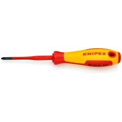 Викрутка (тонка) PlusMinus Phillips® 187 мм Knipex 98 24 01 SLS