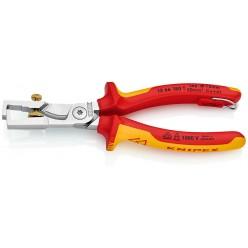 Кліщі для видалення ізоляції, з функцією різання кабелю Knipex StriX хромовані 180 mm Knipex 13 66 180 T