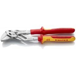 Кліщі переставні-гайковий ключ хромовані 250 мм Knipex 86 06 250